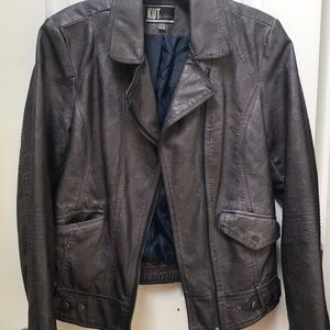 KUT from the Kloth 'leather' jacket. Gray, Size S